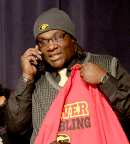 Senior John Allen was injured early this season and he says he is just blessed to have the opportunity to be part of signing day and attend Grambling State in the fall. (Kyhia Jackson photo)